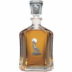 Coyote Capitol Glass Decanter with Pewter Accents