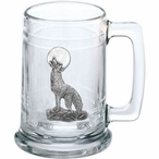 Coyote Glass Beer Mug with Pewter Accent