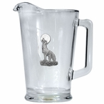 Coyote Glass Pitcher with Pewter Accent