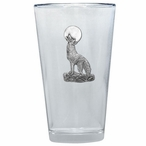 Coyote Pint Beer Glasses with Pewter Accent, Set of 2