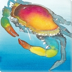 Crabbie Crab Wrapped Canvas Giclee Print Wall Art