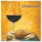 Crabernet Absorbent Beverage Coasters by Will Bullas, Set of 12