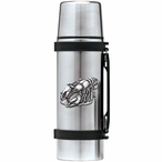 Crawfish Stainless Steel Thermos with Pewter Accent