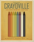 Crayoville Crayons Yellow Wrapped Canvas Giclee Print Wall Art