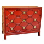 Crestwood Chippendale Style Three Drawer Wood Chest