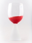 Crimson Romanian Crystal Red Wine Glasses, Set of 4