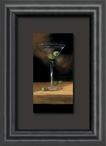 Crisp Cocktail Martini with Olives Float Mount Framed Art Print