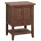 Cross Creek 1 Drawer with 2 Doors Wood Chest