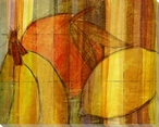 Cross-Cut Fruit Four Wrapped Canvas Giclee Print Wall Art