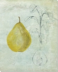 Cross Section of a Pear Wrapped Canvas Giclee Print Wall Art