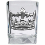 Crown Pewter Accent Shot Glasses, Set of 4
