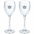 Crown Pewter Accent Wine Glass Goblets, Set of 2