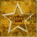 Crown Star Wrapped Canvas Giclee Print Wall Art