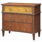 Cumberland Shaped 3 Drawer Two Tone Wood Chest
