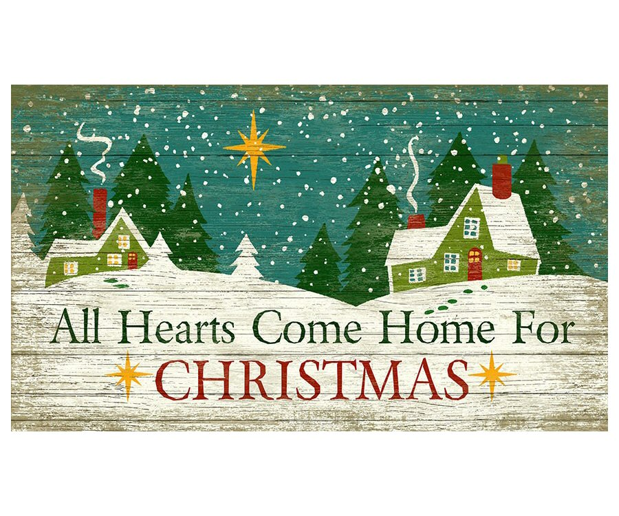 custom all hearts come home for christmas vintage style metal sign - Home For Christmas