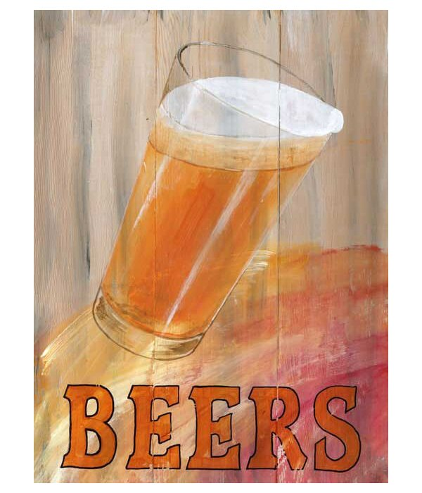 glass beer on wood - photo #47