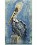 Custom Brown Pelican Vintage Style Metal Sign