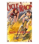 Custom Cycle Racing Vintage Style Metal Sign