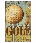 Custom Enjoy Golf Vintage Style Metal Sign