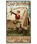 Custom Fishing is Good Tupper Lake, NY Vintage Style Wooden Sign
