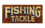 Custom Fishing Tackle Vintage Style Metal Sign