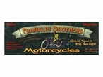 Custom Franklin Brothers Motorcycles Vintage Style Metal Sign