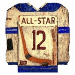 Custom Hockey Jersey Vintage Style Metal Sign