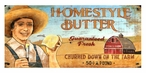 Custom Homestyle Butter Churned on Farm Vintage Style Metal Sign