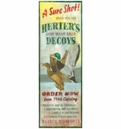 Custom Large A Sure Shot Herters Decoys Vintage Style Wooden Sign
