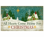 Custom Large Hearts Come Home for Christmas Vintage Style Metal Sign