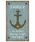 Custom Large Anchor with Family Saying Vintage Style Metal Sign