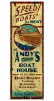 Custom Large Andys Boat House Vintage Style Metal Sign