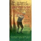 Custom Large Asheville Golf and Country Club Vintage Style Metal Sign