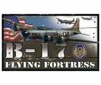 Custom Large B-17 Flying Fortress Plane Vintage Style Metal Sign