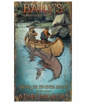 Custom Large Baily's River Guide Vintage Style Metal Sign