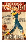 Custom Large Baseball Tournament Vintage Style Metal Sign