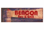 Custom Large Beacon Bar and Grill Vintage Style Metal Sign