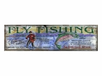 Custom Large Big River Fly Fishing Vintage Style Metal Sign