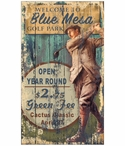 Custom Large Blue Mesa Golf Park Vintage Style Metal Sign