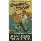 Custom Large Bosebuck Mtn Camp Vintage Style Metal Sign