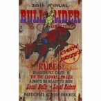 Custom Large Bull Rider Competition Vintage Style Metal Sign