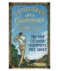 Custom Large Camelback Golf Vintage Style Metal Sign