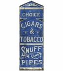 Custom Large Choice Cigars Tobacco & Pipes Vintage Style Metal Sign