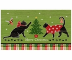 Custom Large Christmas Cats Vintage Style Metal Sign