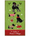 Custom Large Christmas Dogs Vintage Style Wooden Sign