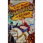 Custom Large Cole Bros Circus of Stars Vintage Style Metal Sign