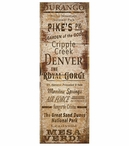 Custom Large Colorado Towns and Places Vintage Style Metal Sign