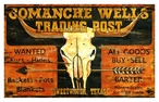 Custom Large Comanche Wells Trading Post Vintage Style Metal Sign