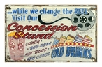 Custom Large Concession Stand Vintage Style Metal Sign