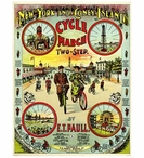 Custom Large Coney Island Cycle March Vintage Style Metal Sign